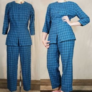 1960s handmade mod two piece wool suit!